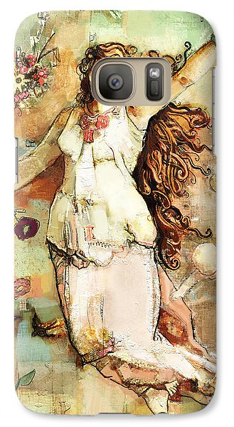 Galaxy Case featuring the mixed media Ostara by Carrie Joy Byrnes