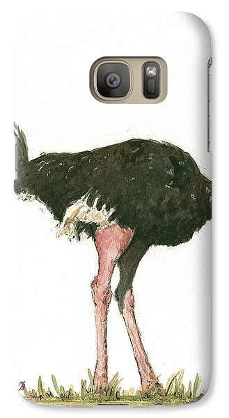 Ostrich Bird Galaxy S7 Case by Juan Bosco
