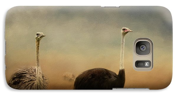 Ostrich Couple Galaxy S7 Case by Jai Johnson