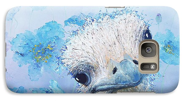 Ostrich In A Field Of Poppies Galaxy S7 Case