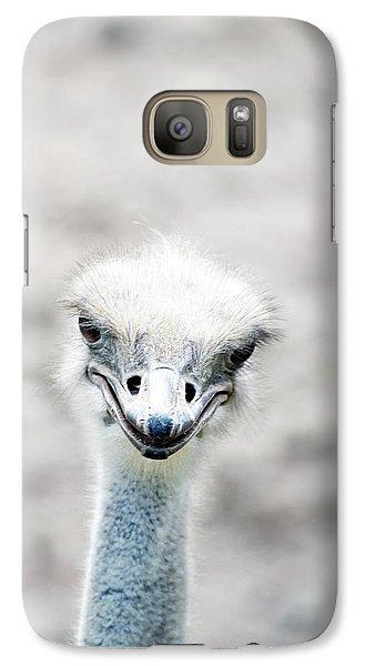 Ostrich Galaxy S7 Case - Ostrich by Lauren Mancke