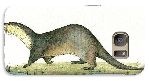 Otter Galaxy Case by Juan Bosco