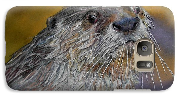 Galaxy Case featuring the painting Otter Or Not by Ceci Watson