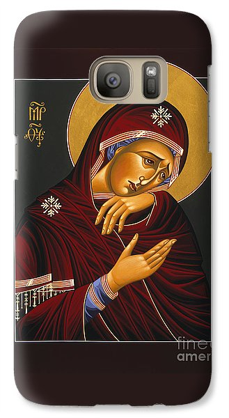 Galaxy Case featuring the painting Our Lady Of Sorrows 028 by William Hart McNichols