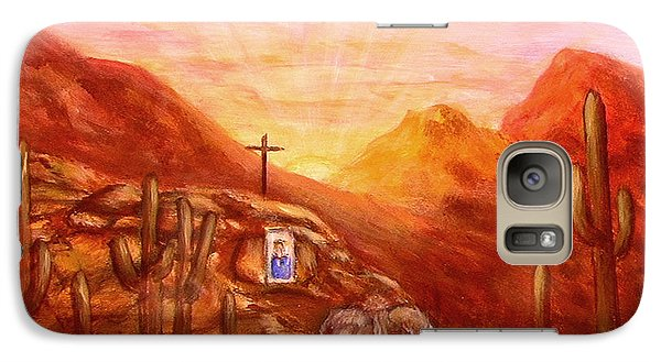Galaxy Case featuring the painting Our Lady Of The Desert by Judy Filarecki