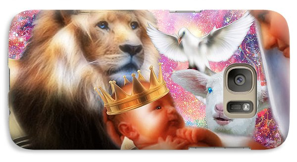 Galaxy Case featuring the digital art Our Saviors Birth by Dolores Develde