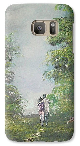Galaxy Case featuring the painting Our Time Together by Raymond Doward