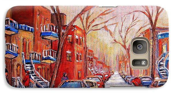 Galaxy Case featuring the painting Out For A Walk With Mom by Carole Spandau