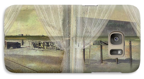 Galaxy Case featuring the photograph Out My Window- Desert Town by Jeff Burgess
