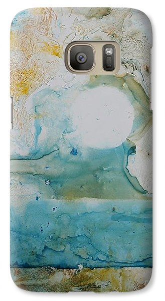 Galaxy Case featuring the painting Out Of Nothing by Elizabeth Carr