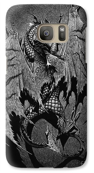 Galaxy Case featuring the digital art Out Of The Shadows by Stanley Morrison