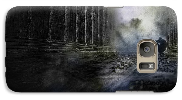 Galaxy Case featuring the photograph Out Of The Storm by Gray  Artus