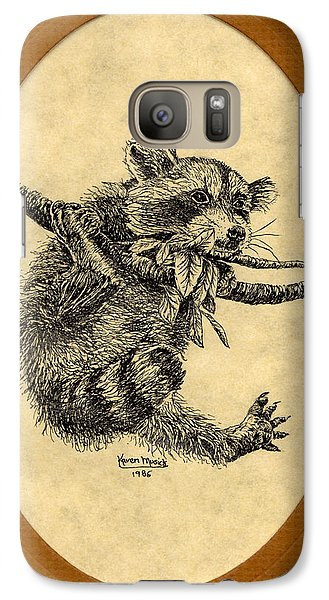 Galaxy Case featuring the drawing Out On A Limb by Karen Musick