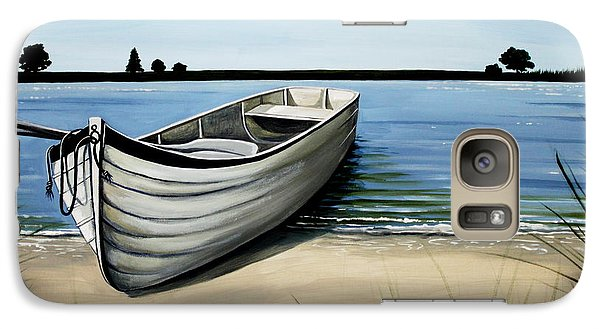 Galaxy Case featuring the painting Out On The Water by Elizabeth Robinette Tyndall