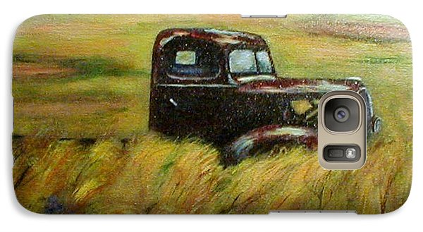 Galaxy Case featuring the painting Out To Pasture by Gail Kirtz
