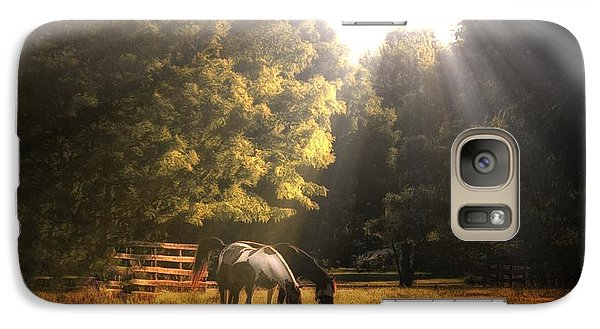 Galaxy Case featuring the photograph Out To Pasture by Mark Fuller