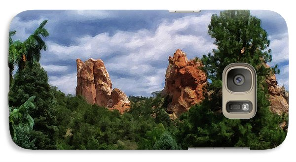 Galaxy Case featuring the digital art outcroppings in Colorado Springs by Chris Flees