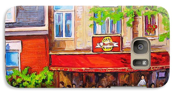 Galaxy Case featuring the painting Outdoor Cafe by Carole Spandau