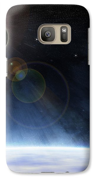 Galaxy Case featuring the digital art Outer Atmosphere Of Planet Earth by Phil Perkins