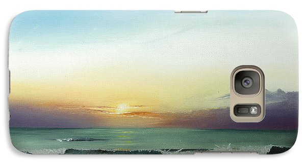 Galaxy Case featuring the painting East Coast Sunrise by Albert Puskaric