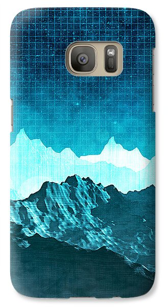 Galaxy Case featuring the digital art Outer Space Mountains by Phil Perkins