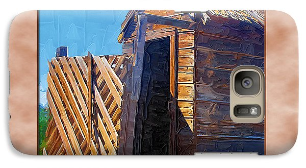Galaxy Case featuring the photograph Outhouse 2 by Susan Kinney