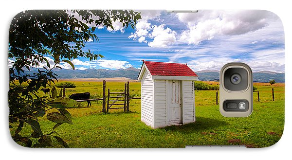 Galaxy Case featuring the photograph Outhouse by Tim Reaves