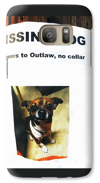 Galaxy Case featuring the photograph Outlaw by Joe Jake Pratt