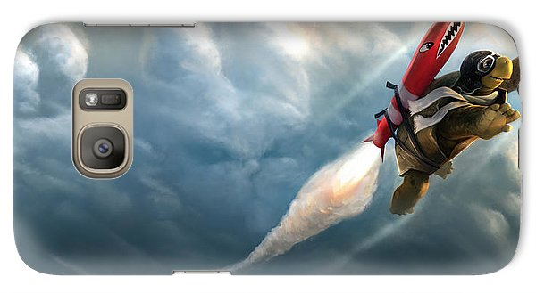 Galaxy Case featuring the digital art Outrunning The Clouds by Steve Goad