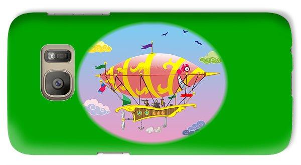 Galaxy Case featuring the digital art Dreamship II by J L Meadows