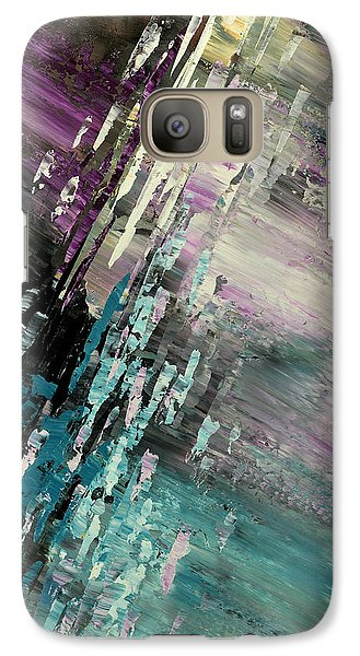 Galaxy Case featuring the painting Over Cosmic Clouds by Tatiana Iliina