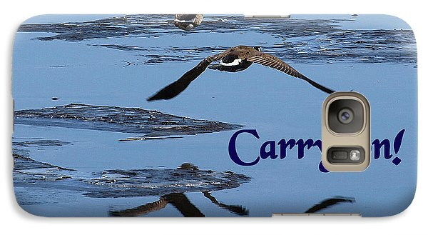 Galaxy Case featuring the photograph Over Icy Waters Carry On by DeeLon Merritt
