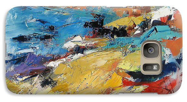 Galaxy Case featuring the painting Over The Hills And Far Away by Elise Palmigiani