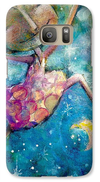 Galaxy Case featuring the painting Over The Moon by Eleatta Diver