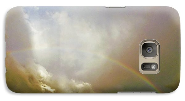 Galaxy Case featuring the photograph Over The Rainbow by Deborah Moen