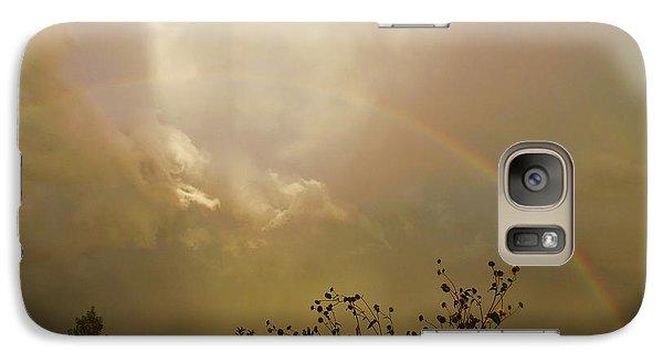 Galaxy Case featuring the photograph Over The Rainbow Garden by Deborah Moen
