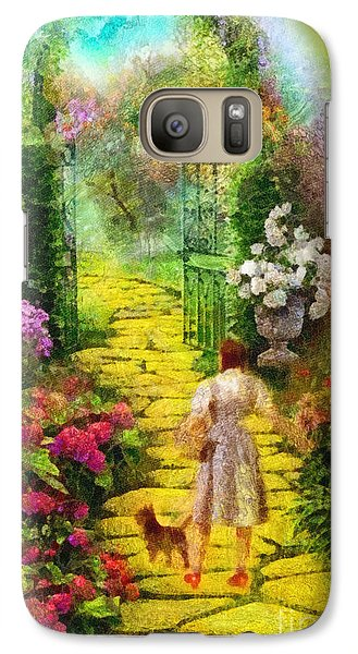 Galaxy Case featuring the painting Over The Rainbow by Mo T