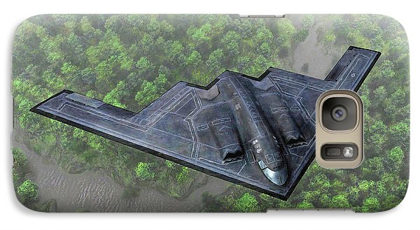 Galaxy Case featuring the painting Over The River And Through The Woods In A Stealth Bomber by Dave Luebbert