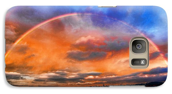 Galaxy Case featuring the photograph Over The Top Rainbow by Steve Siri