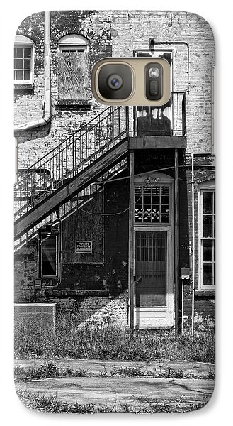 Galaxy Case featuring the photograph Over Under The Stairs - Bw by Christopher Holmes