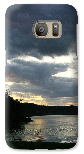 Galaxy Case featuring the photograph Overcast Morning Along The River by Skyler Tipton