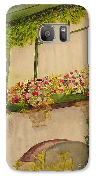 Galaxy Case featuring the painting Overlooking Butchard Gardens  by Vicki  Housel