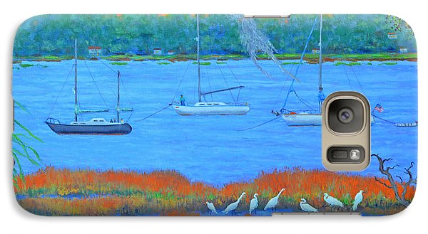 Galaxy Case featuring the painting Overnight In Beaufort by Dwain Ray