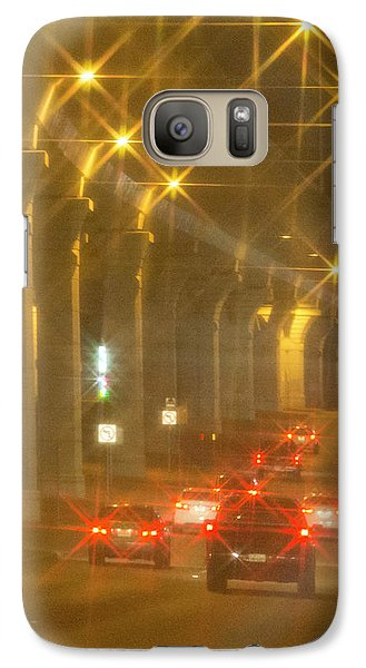 Galaxy Case featuring the photograph Overpass Traffic by Linda Phelps