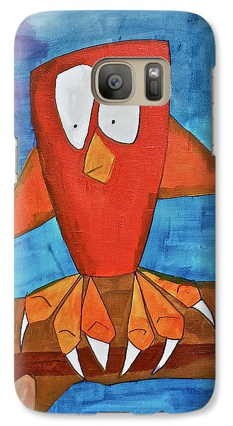 Galaxy Case featuring the painting Owel by Donna Howard