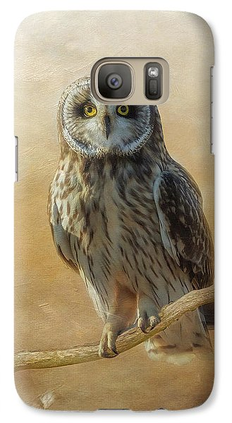 Galaxy Case featuring the photograph Owl  by Angie Vogel