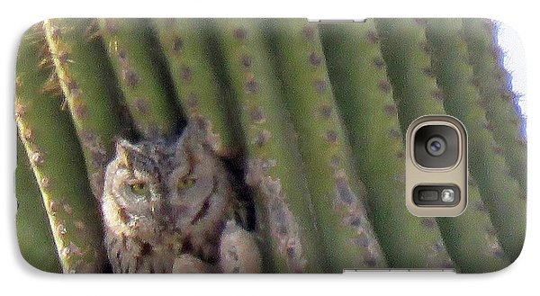 Owl In Cactus Burrow Galaxy S7 Case