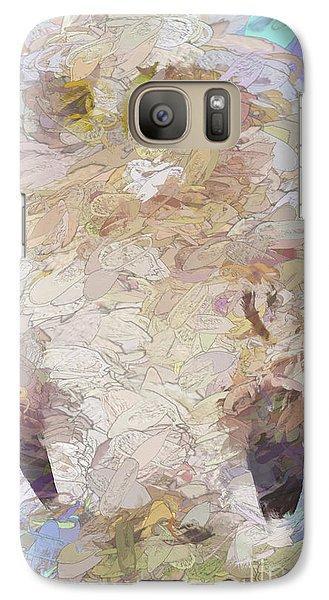 Galaxy Case featuring the digital art OWL by Jim  Hatch