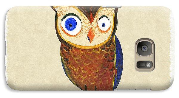 Owl Galaxy S7 Case by Kristina Vardazaryan