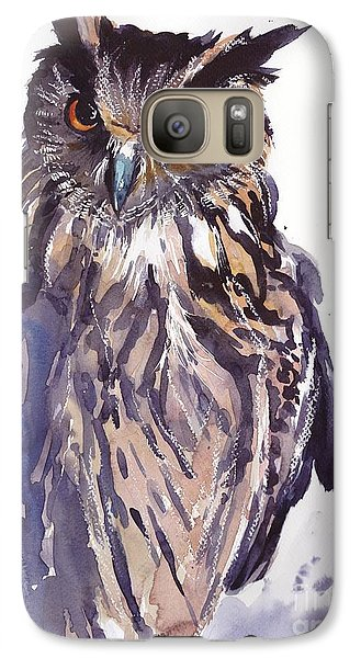 Pigeon Galaxy S7 Case - Owl Watercolor by Suzann's Art